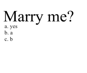 marry, marry me, and yes image