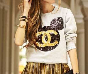 fashion, chanel, and gold image