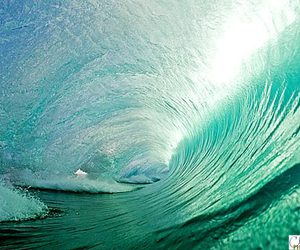 waves, beautiful, and blue image