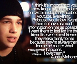austin mahone, mahomies, and love image