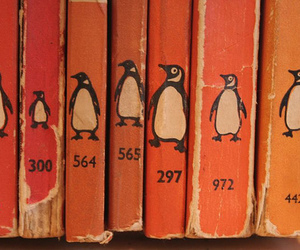 orange, book, and penguin image