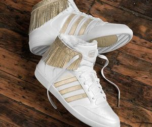 adidas, gold, and girl image