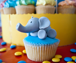 cupcake, cute, and elephant image