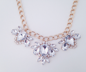 beautiful, diamonds, and neckless image