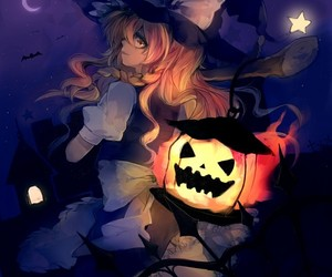 Halloween, witch, and anime image