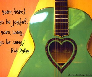 bob dylan, guitar, and heart image