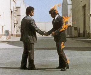Pink Floyd, wish you were here, and fire image