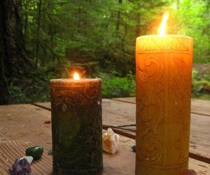 candles, hippie, and nature image