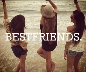friends, best friends, and beach image