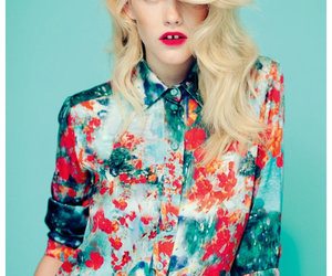 blouse, blue, and editorial image