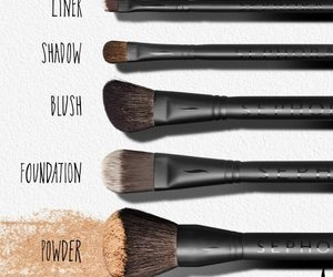 Brushes, makeup, and Foundation image