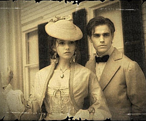 the vampire diaries, Nina Dobrev, and paul wesley image