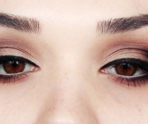 beautiful, brown eyes, and cat eye image