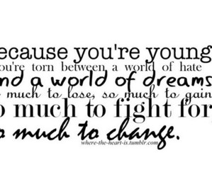 quote, young, and change image
