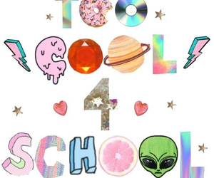 school, cool, and overlay image