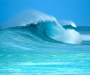 big wave, fresh, and sea image