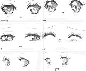 drawing, manga, and eyes image