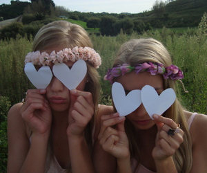bff, hearts, and pink image