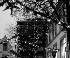 black and white, cool, and christmas image