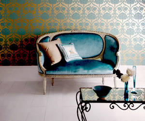 couch, damask, and sofa image