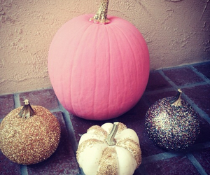 pumpkin, glitter, and Halloween image