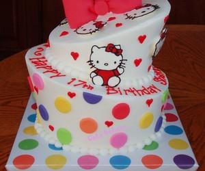 cake, hello kitty, and sweet image