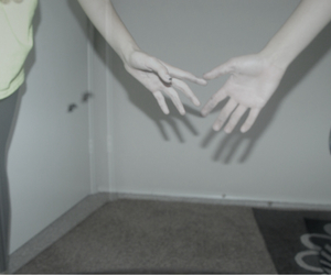 alone, girl, and hands image