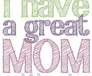 mom, love, and text image