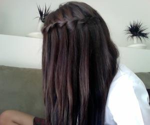 hair, braid, and waterfall braid image