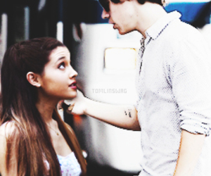 hariana, ariana grande, and Harry Styles image