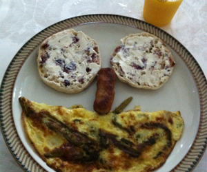 breakfast, eggs, and happy image