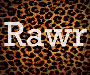 rawr and text image
