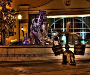 disneyland, night, and resort image
