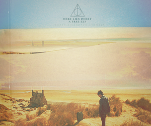 harry potter, deathly hallows, and dobby image