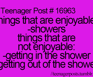 teenager post and shower image