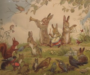 animals, art, and fairy tale image