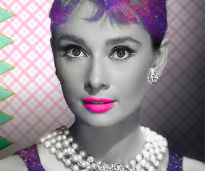 audrey hepburn, galaxy, and star image