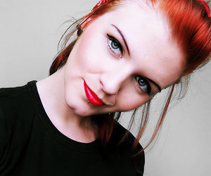 girl, red hair, and Pin Up image