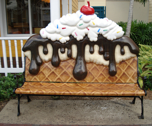 ice cream, sweet, and chair image
