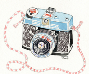 camera, illustration, and diana image
