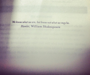 Hamlet, know, and quote image