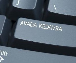 harry potter, avada kedavra, and keyboard image