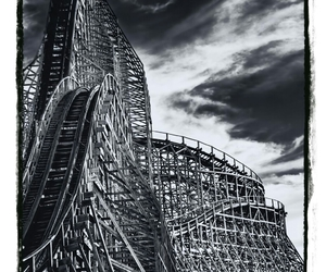 clouds, Roller Coaster, and sky image