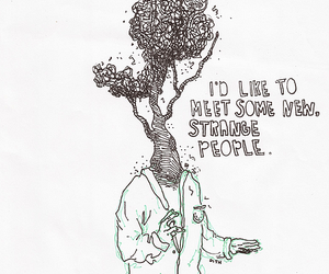 quote, people, and strange image