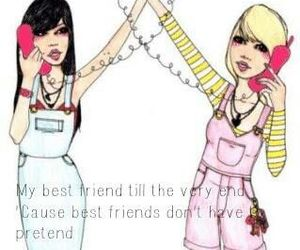 friendship, girl, and quotes image
