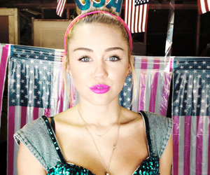 miley cyrus, usa, and miley image