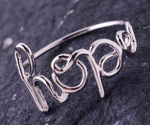 hope, simple, and ring image