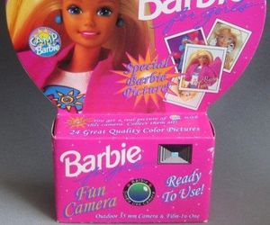 barbie, camera, and 90s image