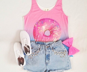 donuts, fashion, and outfit image