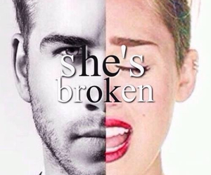 broken, miley cyrus, and miley image